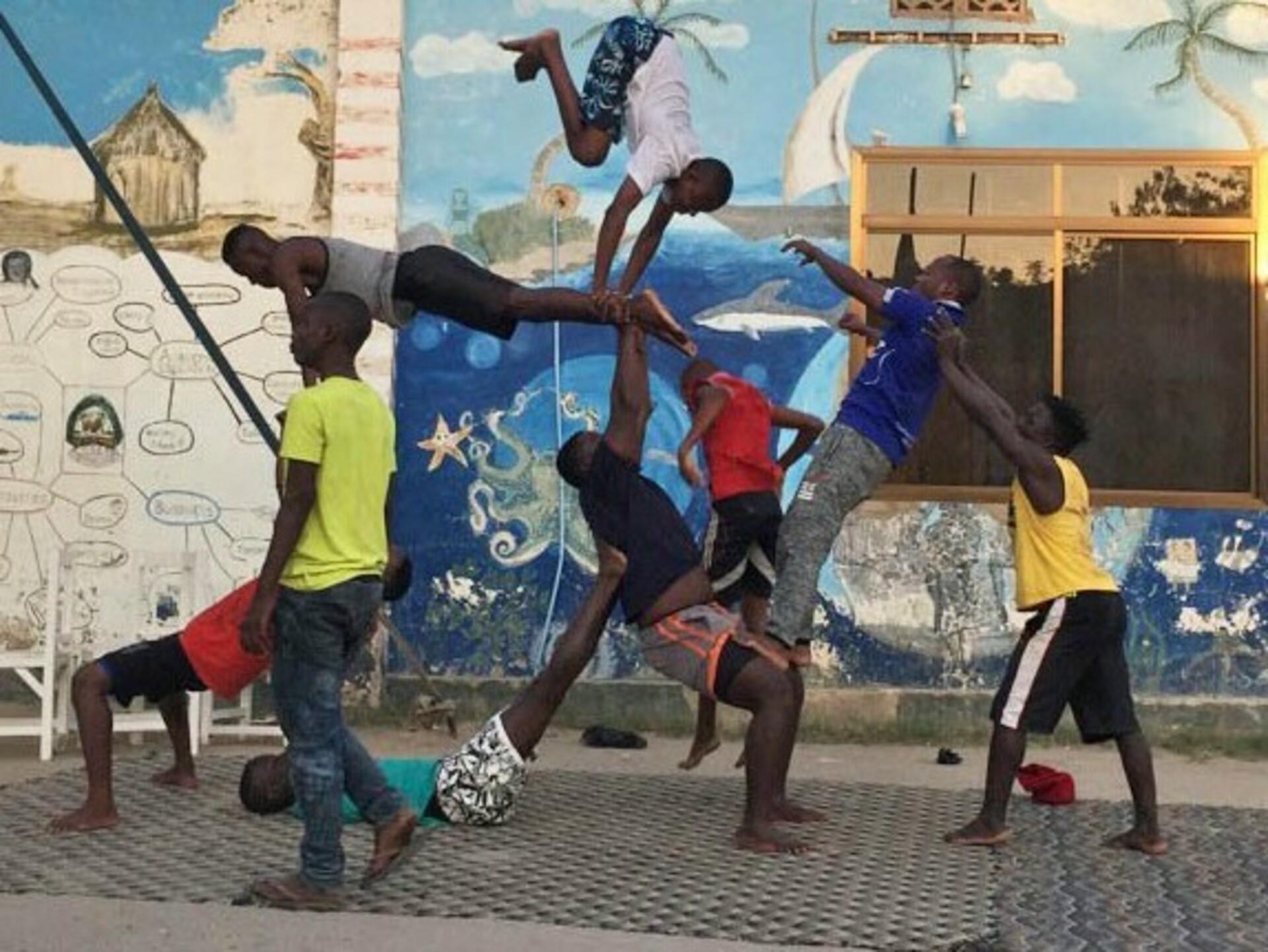 ODI Freiwilligendienst Tansania Akrobatik